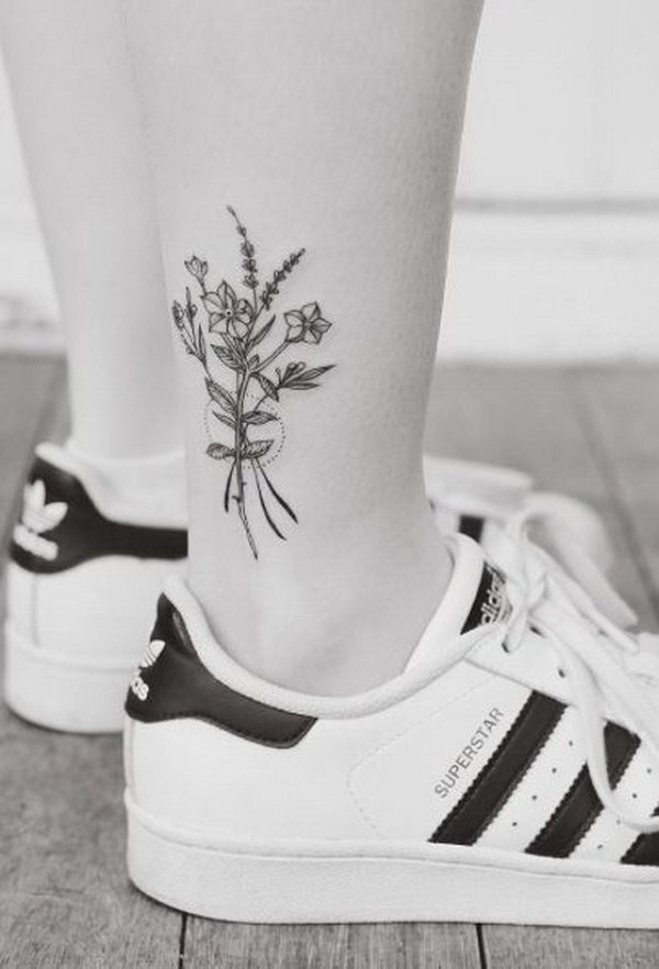 Floral ankle work.