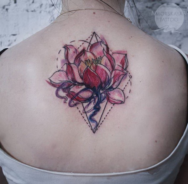 Geometric Lotus on Back.