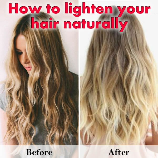 Lightening your hair naturally at home with this kind of homemade recipes.