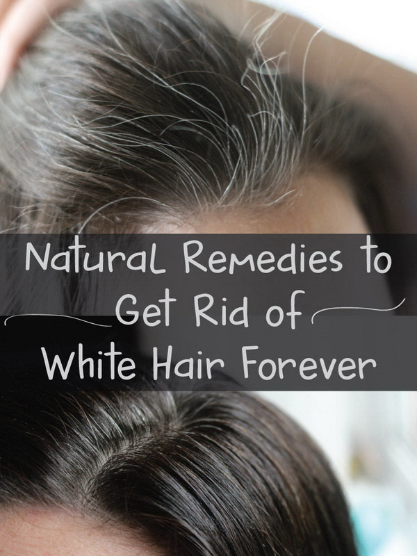 Massaging the hair roots with butter a few times a week can help get rid of white hairs.