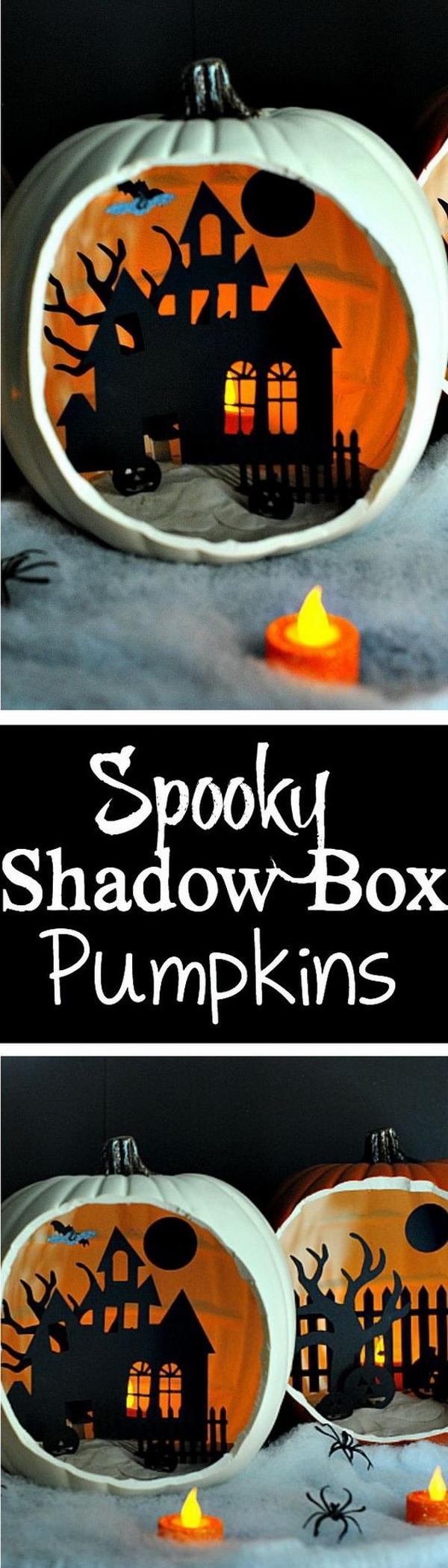 DIY Shadow Box Pumpkins.