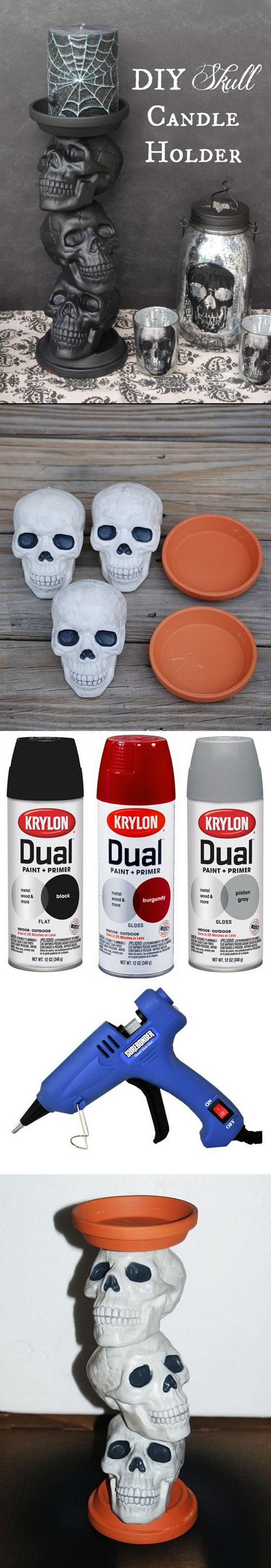 DIY Skull Candle Holder.