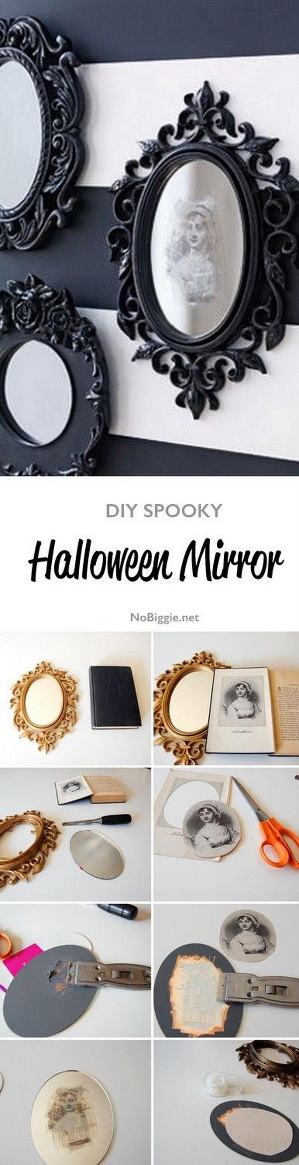 DIY Spooky Halloween Mirror.