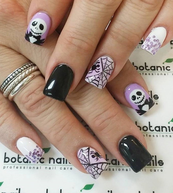 Spider and Web Halloween Nail Designs. Halloween Nail Art Ideas.