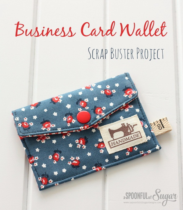 Sewing Business Card Wallet. A business card wallet that is made by yourself can be a popular and personalize gift that keeps on giving!