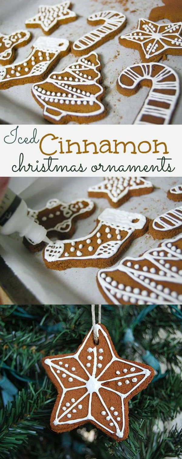 Heavenly Scented Cinnamon Ornaments. These heavenly scented cinnamon ornaments are lovely hanging from the tree and also look so beautiful as package decorations.