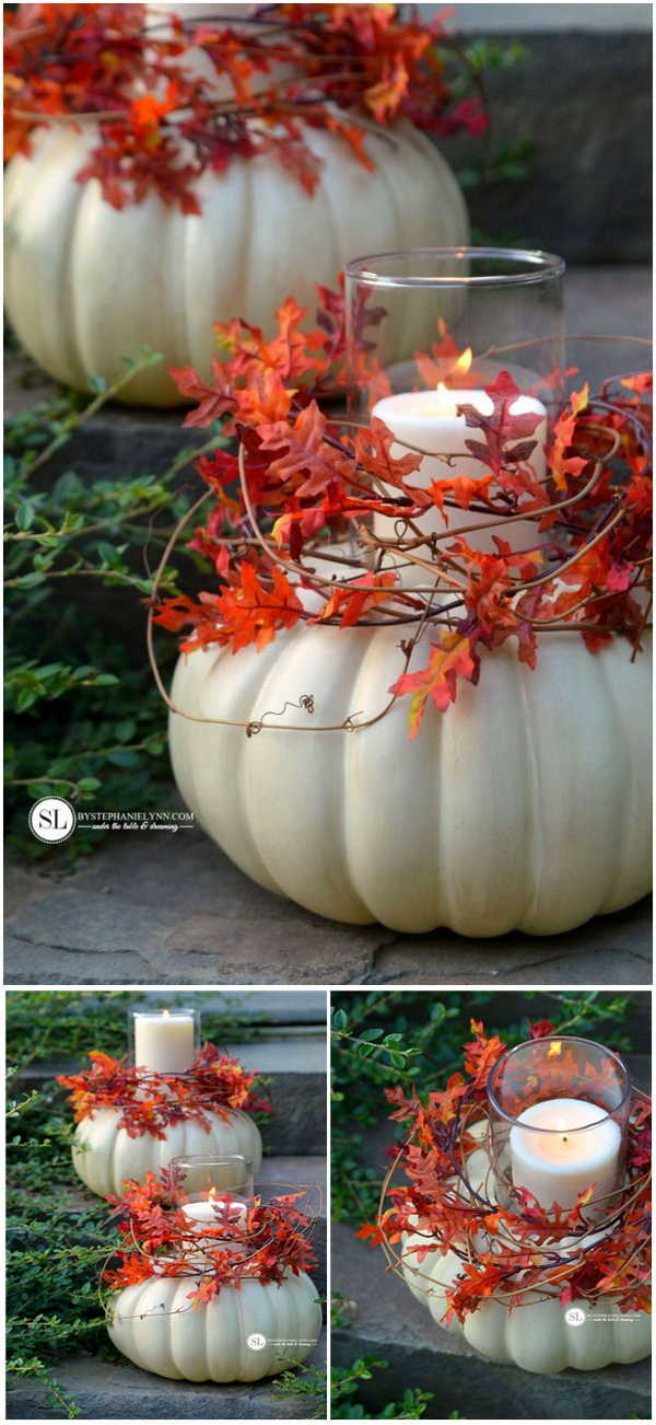 Craft Pumpkin Candle Holders. These craft pumpkin candle holders are incredibly easy to put together and require just a few supplies. They can be used outdoors, as table centerpieces or simply as fall decor throughout your home.