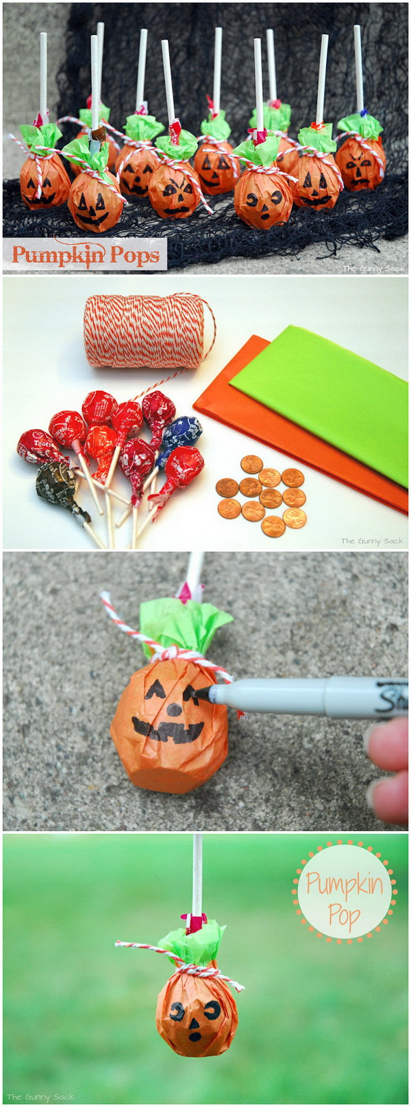 Pumpkin Pops. Pretty and adorable little pumpkin pops! They are the ideal finale to your Halloween celebration.