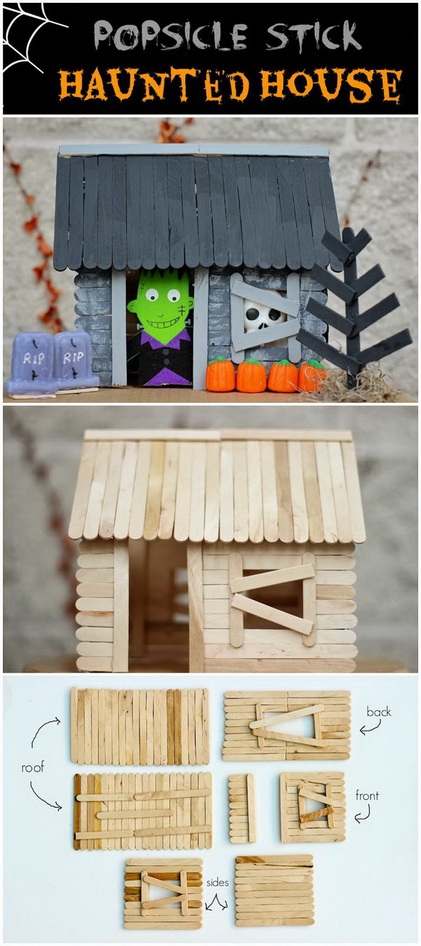 Popsicle Stick Haunted House. Making a haunted house out of popsicle sticks can be an enjoyable and entertaining experience for kids.