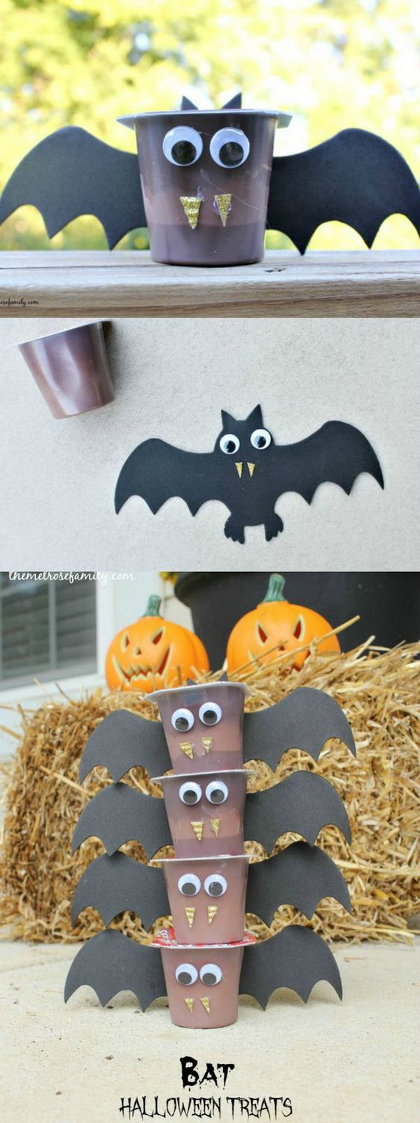 Bat Halloween Treats. An adorable, fun snack idea for kids this Halloween.