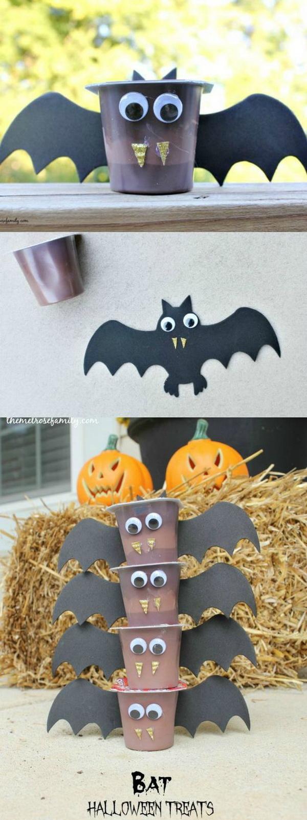 Bat Halloween Treats. An adorable, fun snack idea for kids this Halloween.