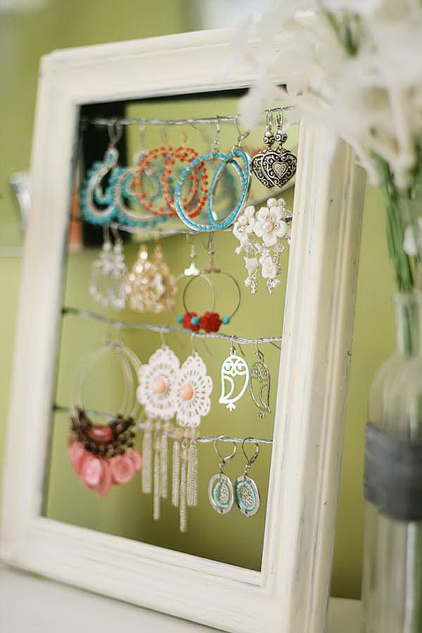 Shabby Chic Dangly Earring Display.
