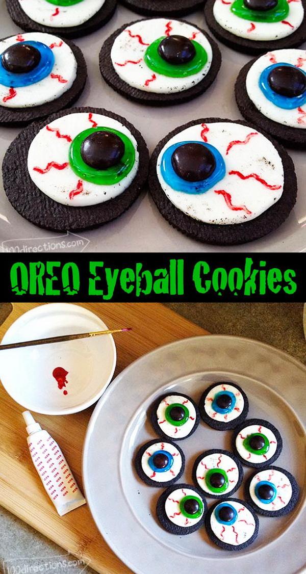 OREO Cookie Eyeballs Halloween Treat DIY.