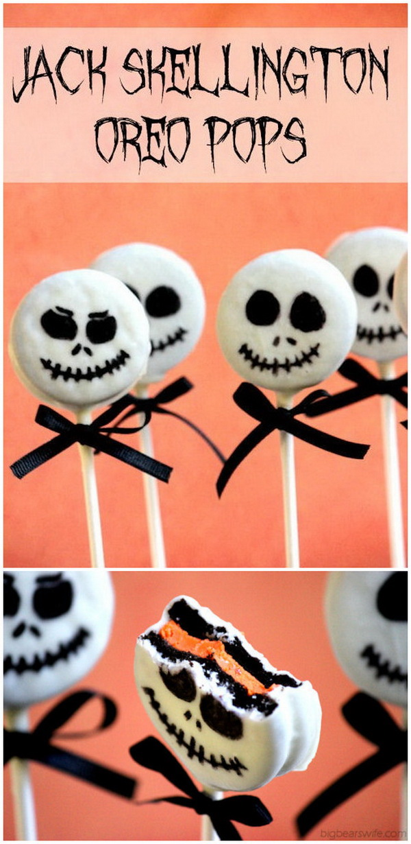 Jack Skellington Oreo Pops.