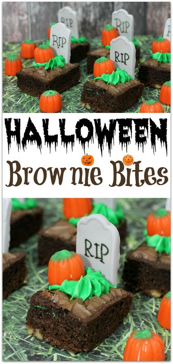 Halloween Brownie Bites.