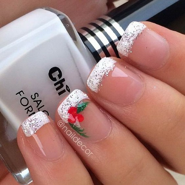70 festive christmas nail art ideas for creative juice festive french manicure for christmas prinsesfo Gallery