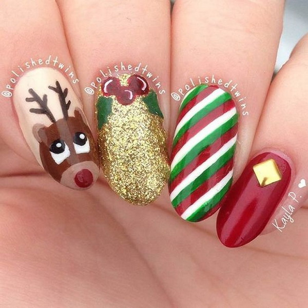 Christmas Nail Art Design Ideas - 70+ Festive Christmas Nail Art Ideas - For Creative Juice