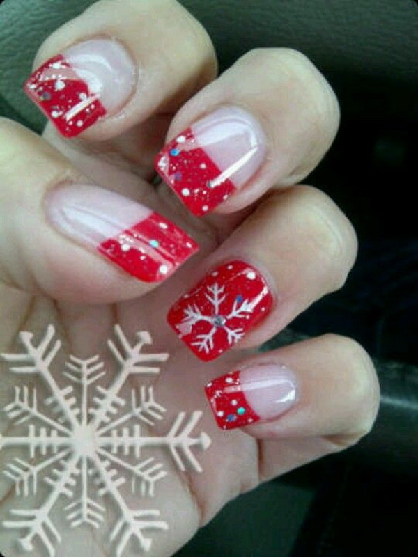 Red French Manicure Inspiration.