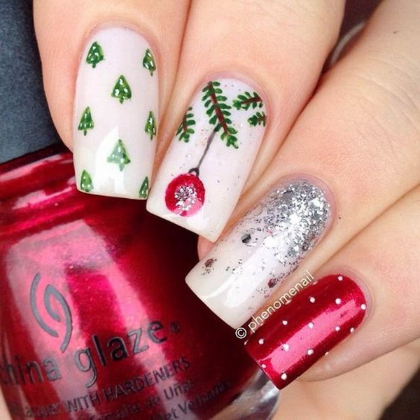 70 festive christmas nail art ideas for creative juice perfect festive nail art design prinsesfo Choice Image