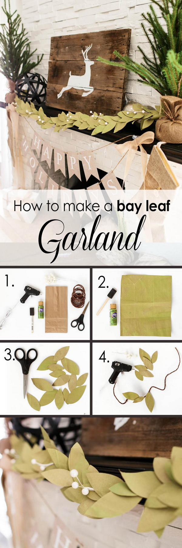 DIY Bay Leaf Garland.