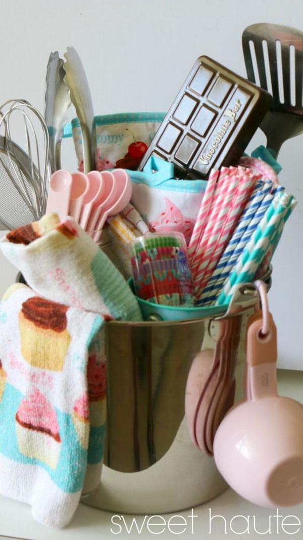 DIY Baking Gift Basket.