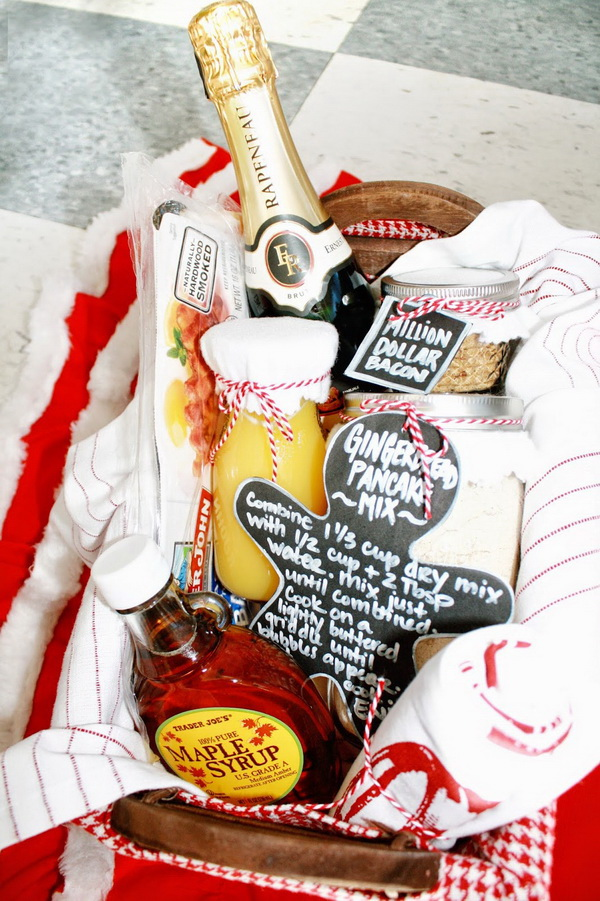Pancake Breakfast Gift Basket.