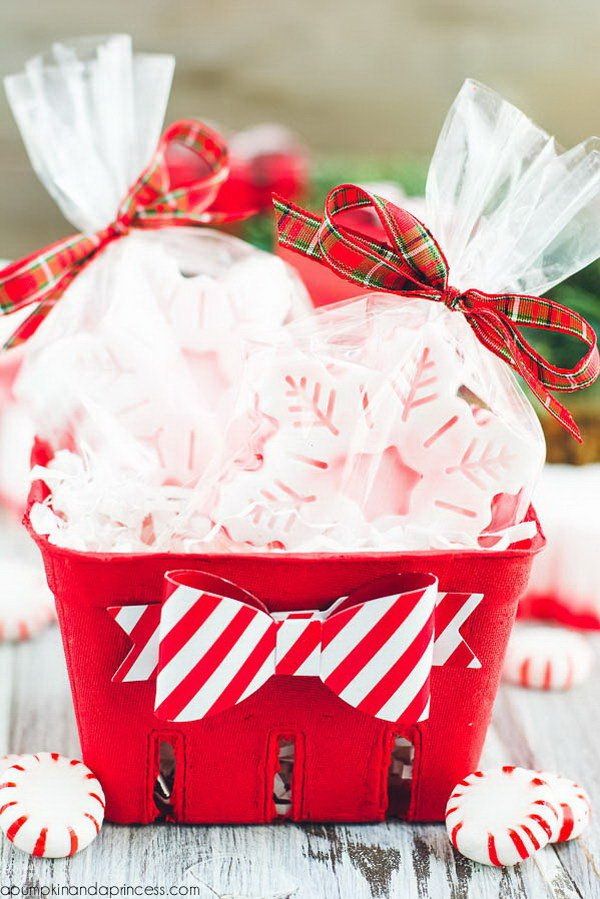 DIY Peppermint Soap Gift Basket.