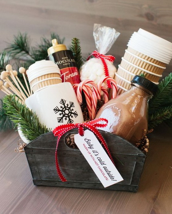 The Perfect Hot Cocoa Gift Basket.