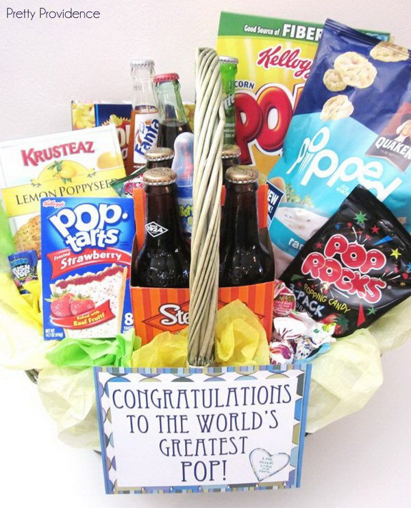 "New ""Pop"" Gift Basket."