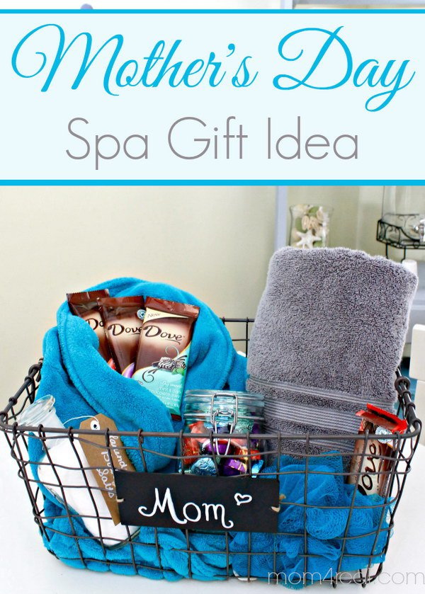 Mother's Day Gift Idea – Spa Gift Basket.