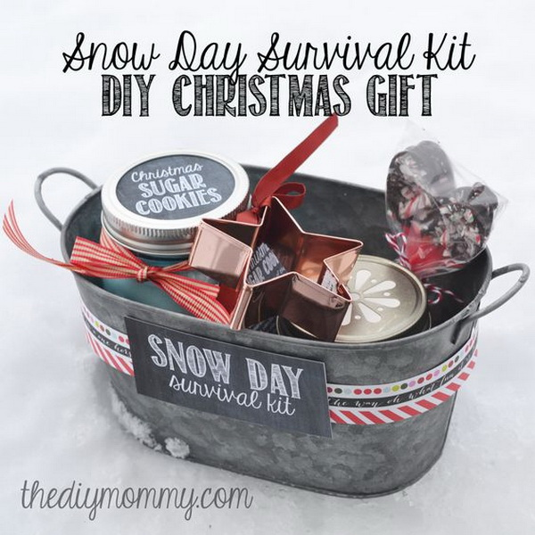 Snow Day Survival Kit Christmas Gift.