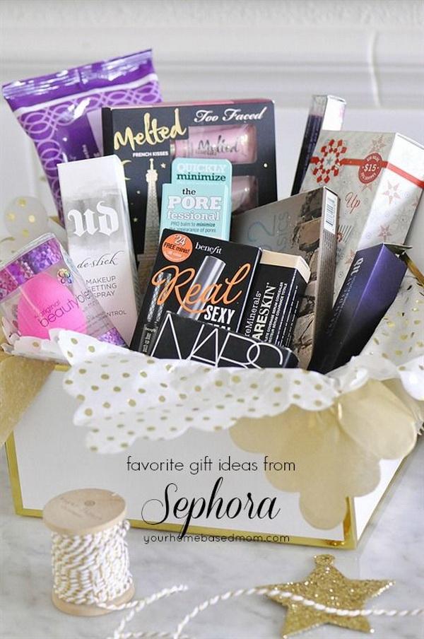 Beauty Themed Gift Basket Ideas.