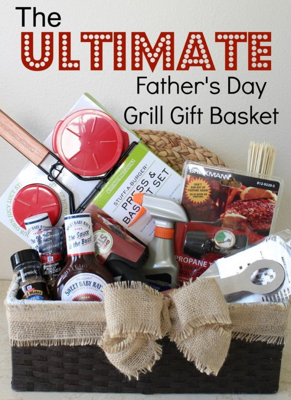 45 creative diy gift basket ideas for christmas for creative juice the ultimate fathers day grill gift basket negle Gallery