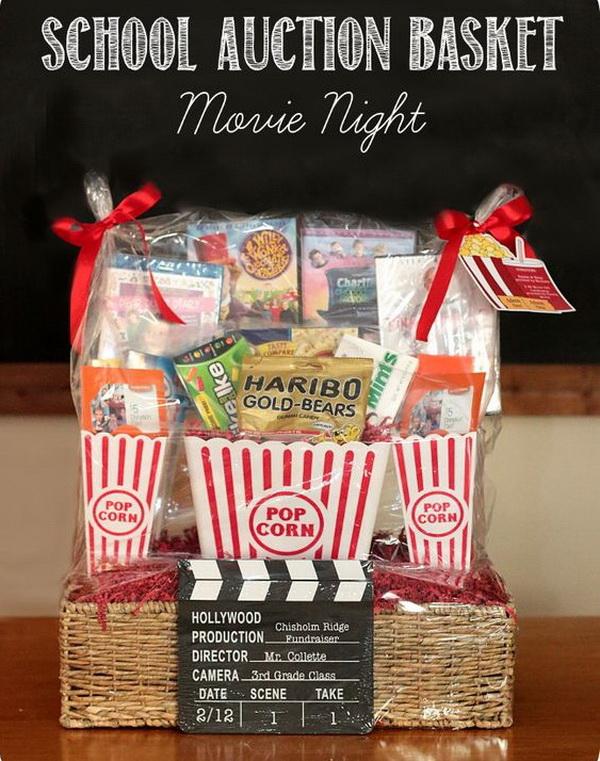 School Auction Basket - Movie Night.
