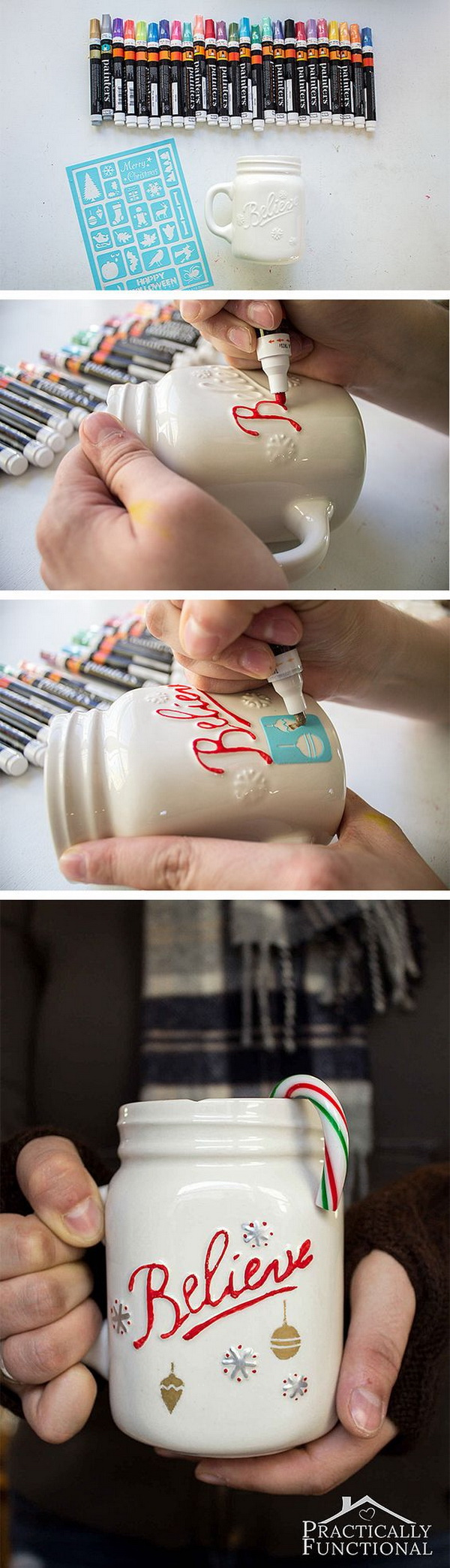 Simple DIY Painted Mug For The Holidays & 30+ Homemade Christmas Gifts Everyone will Love - For Creative Juice
