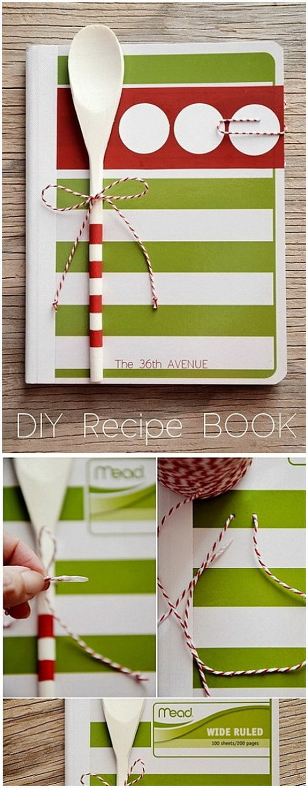 DIY Recipe Book. Perfect Christmas gift for your mom, or any other cook lovers in your life!