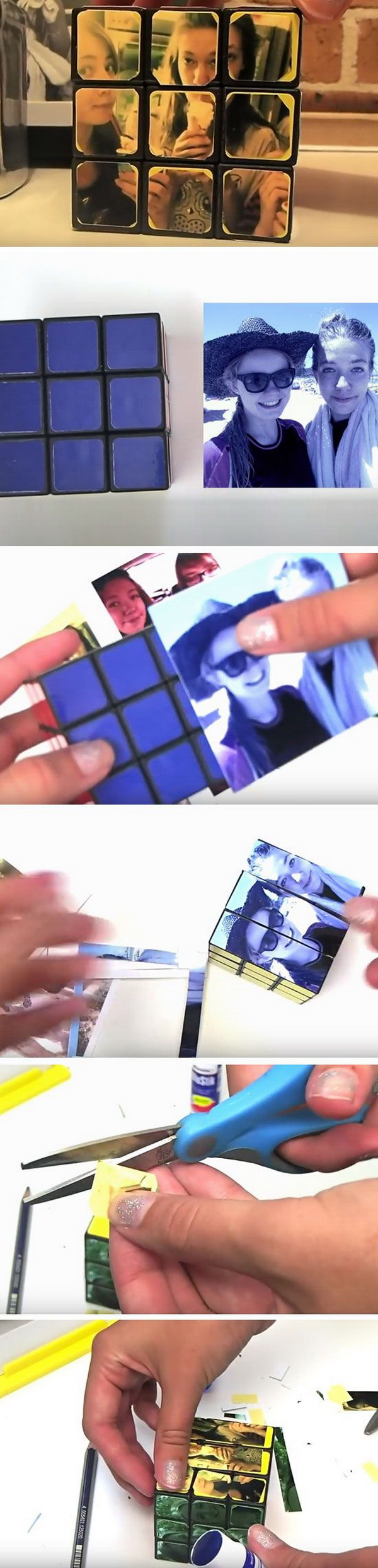 Rubikes Cube Photos. Customized rubik's cube with pictures! It will be a very meaningful gift for everyone in your life!