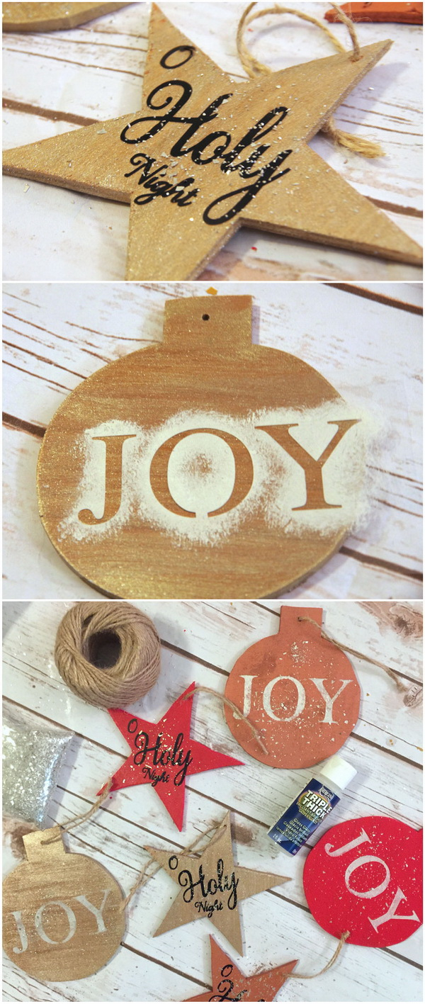 Handmade Wooden Christmas Ornament. These handmade wooden Christmas ornaments are charmingly rustic additions to your holiday decor.