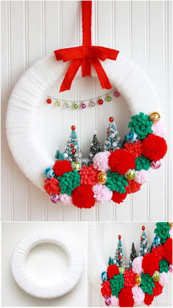 Vintage Style Winter Wonderland Wreath.