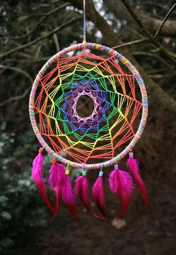 Gorgeous diy dreamcatcher ideas and tutorials for for Dreamcatcher weave patterns