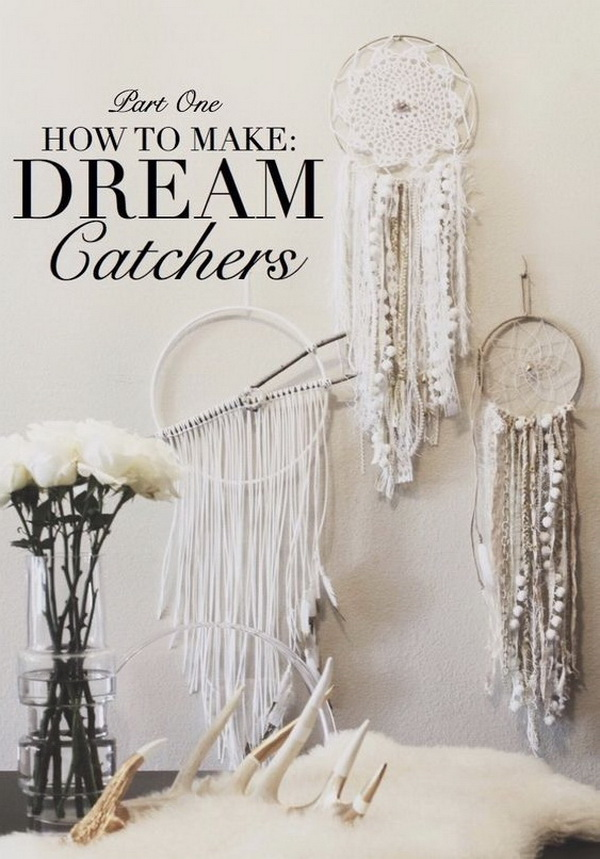 White shabby chic dream catcher DIY  Love the shabby  vintage chic look   Make. Gorgeous DIY Dreamcatcher Ideas and Tutorials   For Creative Juice
