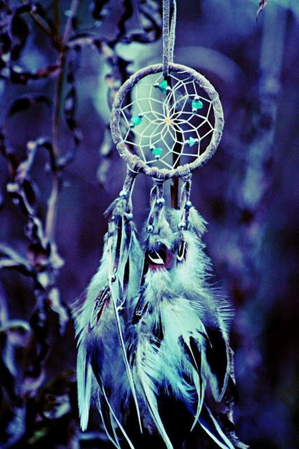 Delicate feather dream catcher.