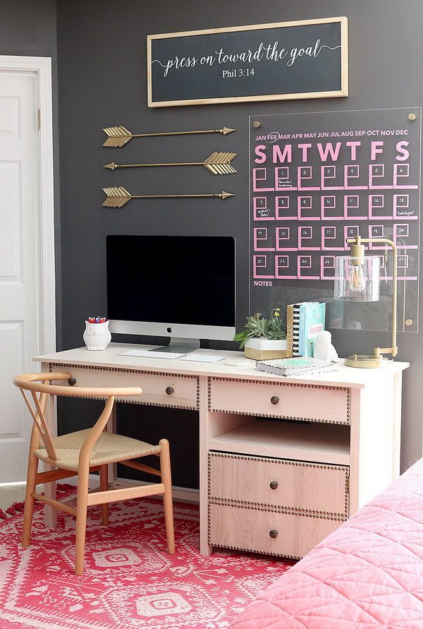 Add a metallic accent color and using it throughout your office.