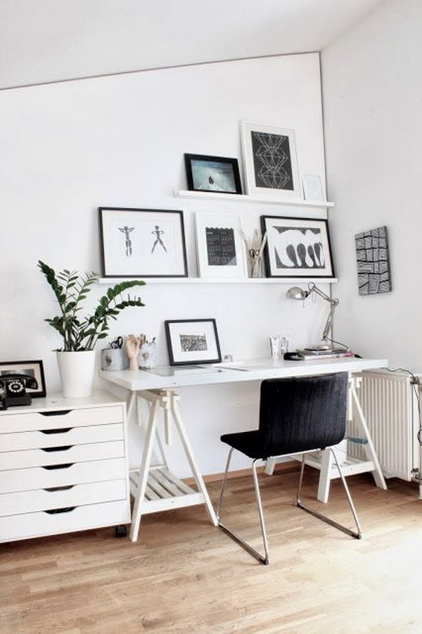Add a dose of whimsy to your workspace like this with an inspired print.