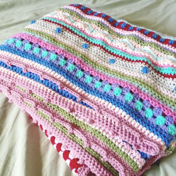 As-We-Go Stripey Blanket.
