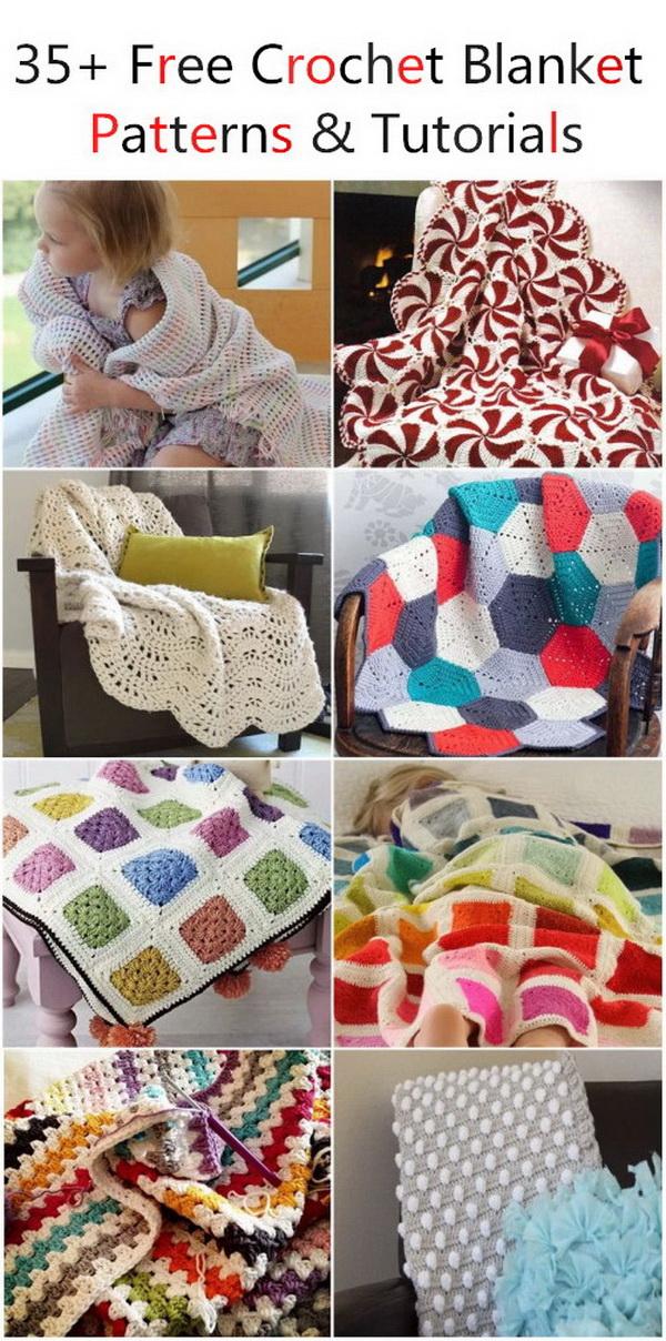 Free Crochet Blanket Patterns & Tutorials.