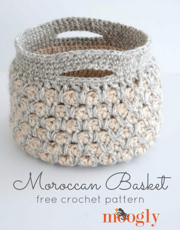 Easy crochet patterns for beginners for creative juice moroccan crochet basket best beginners crochet project these crocheted baskets are useful for storing dt1010fo