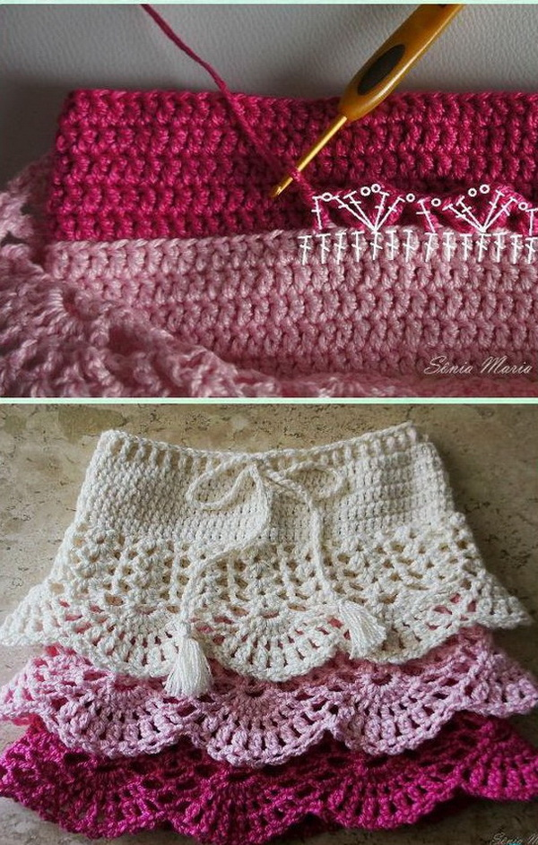 Crochet Girl's Skirt Free Patterns.