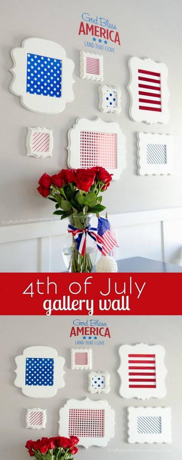 DIY 4th of July Decorations: 4th of July Gallery Wall.