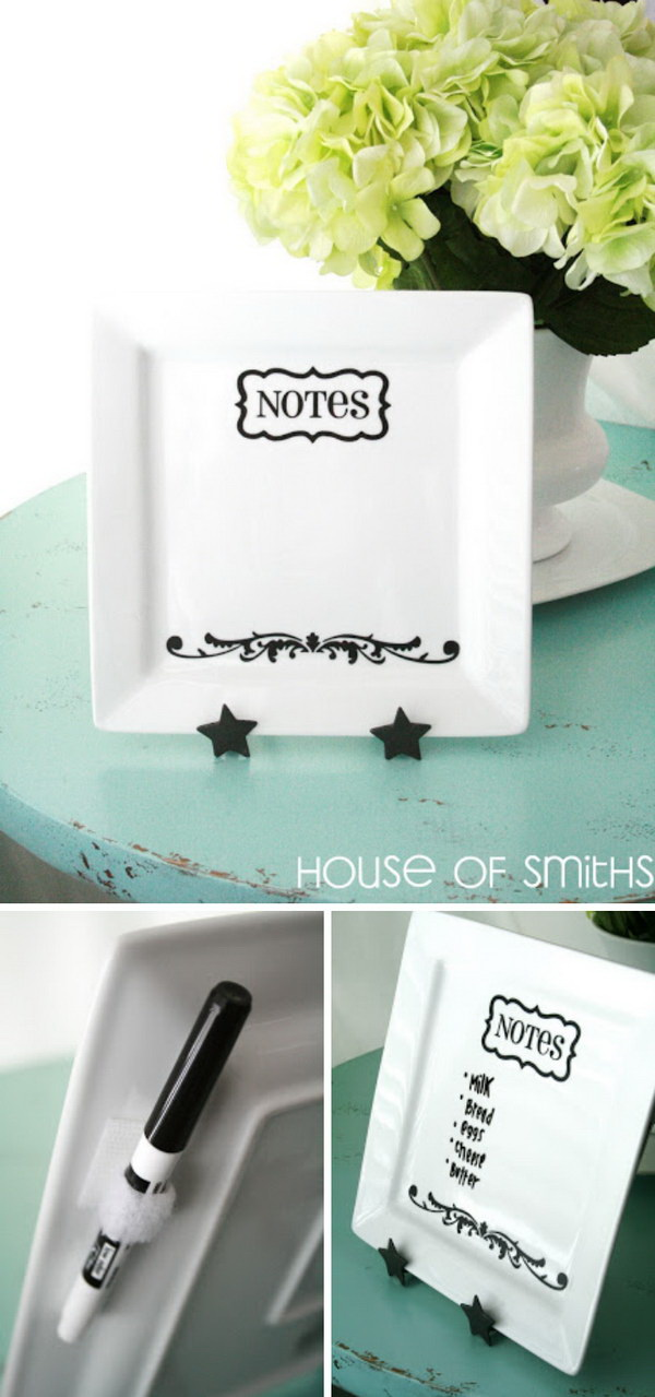 Mother's Day Crafts and gifts: Personalized Plate For Notes